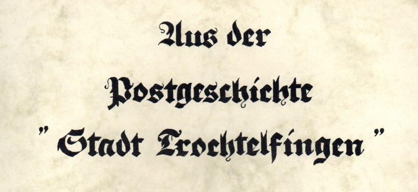 Postgeschichte Trochtelfingen